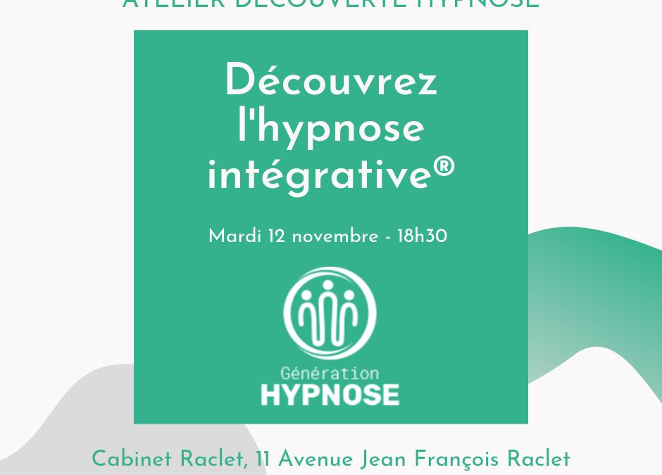Atelier découverte de l'Hypnose Intégrative®
